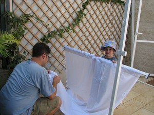 Building Our Sukkah in Modi'in