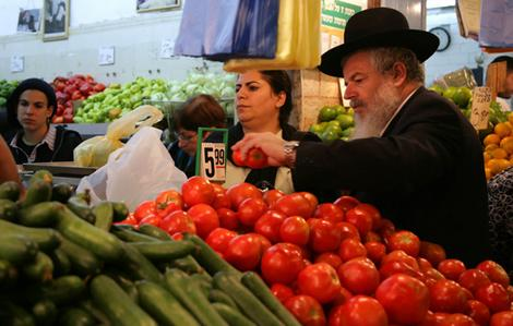 grocery shopping in israel