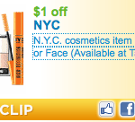 FREE N.Y.C. Cosmetics Lip or Eye Liner at Target
