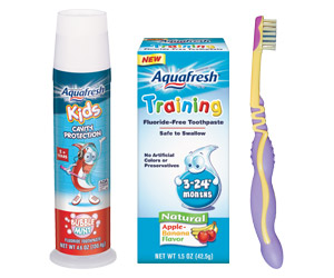 Aquafresh training $1.50 Off Aquafresh Training Toothpaste