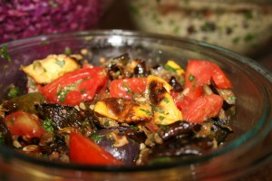 eggplant salad 300x200 September Monthly Meal Plan