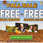 FREE 8×10 Photo Canvas from Canvas People (You Pay Shipping)