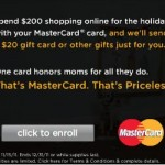 Mastercard: Make $200 Purchase Online, Get $20 Gift Card