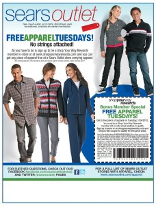 free apparel tuesday 228x300 Its FREE Clothing Tuesday at Sears