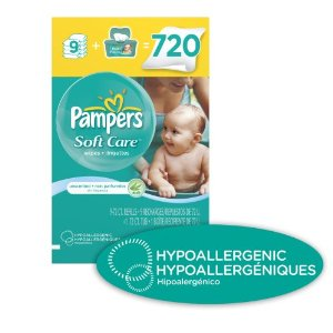 pampers soft care Amazon | Pampers SoftCare Unscented Wipes 10x Box with Tub 720 Count   $14.29