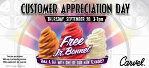 Screen Shot 2012 09 12 at 2.07.00 PM 300x138 Todays the Day! FREE Carvel Ice Cream!