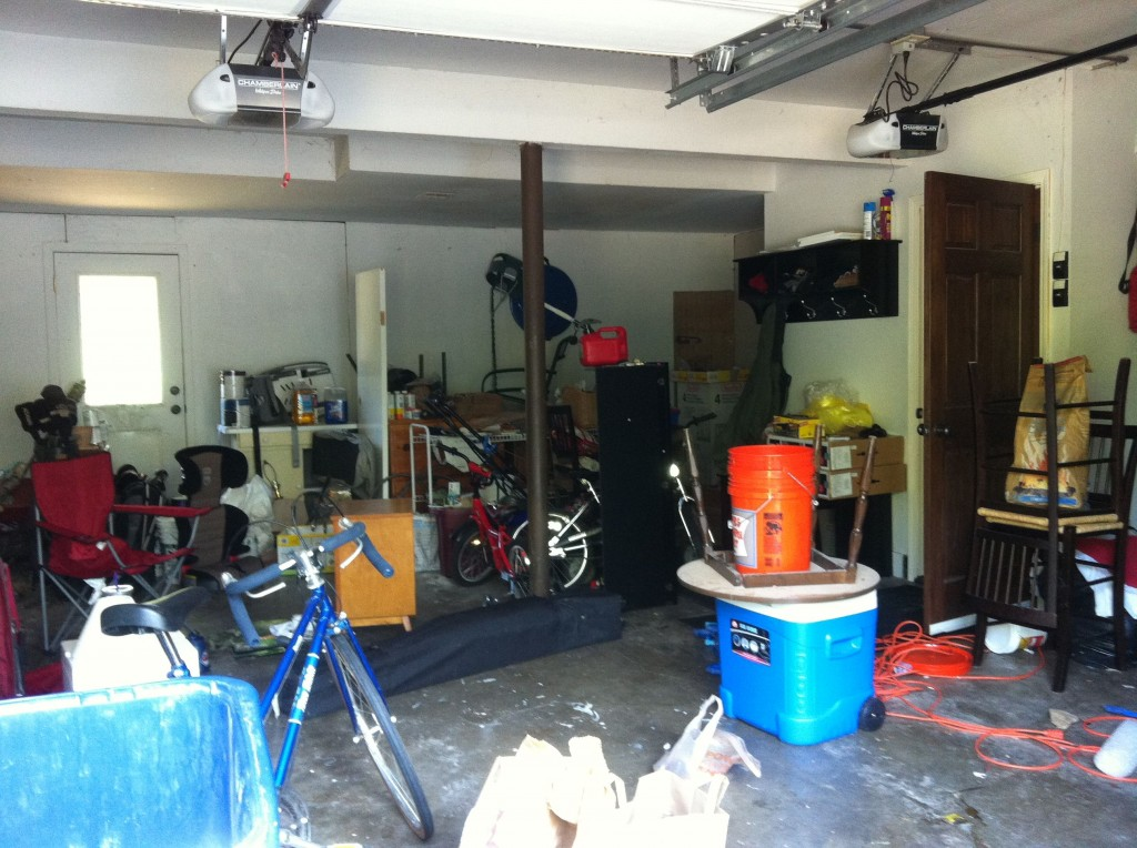 garage before 1024x764 How Our Garage Went from Disaster to Drive In