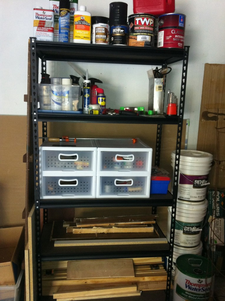 heavy duty shelf 764x1024 How Our Garage Went from Disaster to Drive In