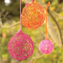 yarn eggs Building & Decorating Your Sukkah on a Budget