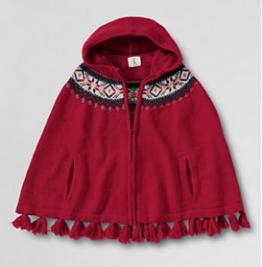 Screen Shot 2012 10 29 at 12.01.16 PM 294x300 Lands End |  Fair Isle Zip Front Hooded Cape for $10 Shipped (originally $79.50)