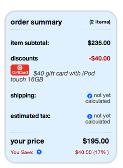 Screen Shot 2012 11 22 at 12.03.54 PM {Expired} Target Black Friday | iPod Touch for $155 After Gift Card