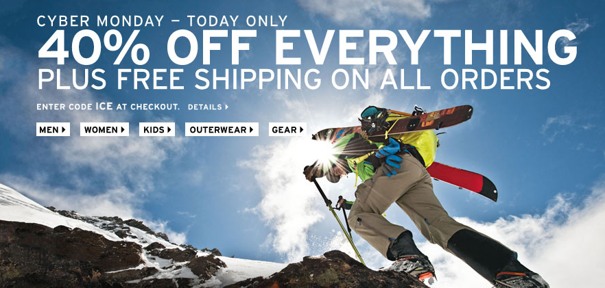 Screen Shot 2012 11 26 at 12.55.23 AM Eddie Bauer Cyber Monday   40% Off Everything + Free Shipping