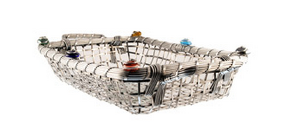 Embellished bread basket