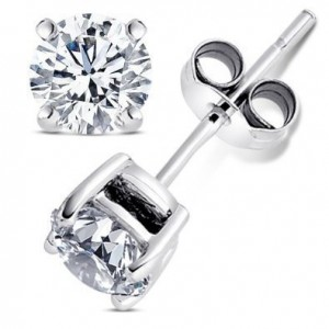 cubic zirconia earrings 300x300 Two Carat Cubic Zirconia Earrings for just $6.99