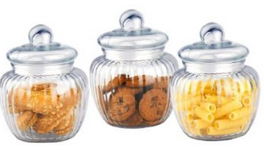 Screen Shot 2013 03 02 at 7.33.29 PM Retro Glass Cookie Jars, Set of 3 for $7.95