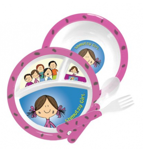 Screen Shot 2013 03 17 at 2.10.55 PM 289x300 Melamine Childrens Dish Set   Noshy Boy or Shmutzy Girl for $5.99