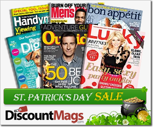 StPatricksSale Pick Your Magazine   Over 20 Subscriptions for $4.99 Each (Today Only)