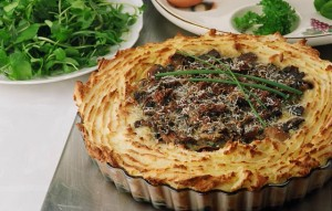 passover potato and mushroom pie 300x191 25 Vegetarian Passover Recipes