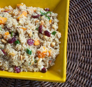 sweet and crunchy quinoa salad 300x282 25 Vegetarian Passover Recipes