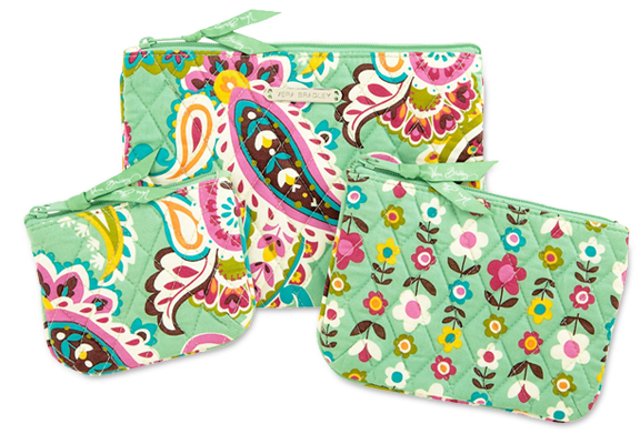 Cosmetic Trio Vera Bradley | One Day Sale, Free Mothers Day Gift, and Free Shipping (4/29 Only)