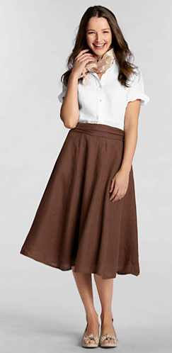 Brown Tie Back Skirt Last Day! Lands End Clearance, 30% Off Coupon Code, and Free Shipping Over $50!