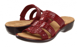 Clarks Red Sandals