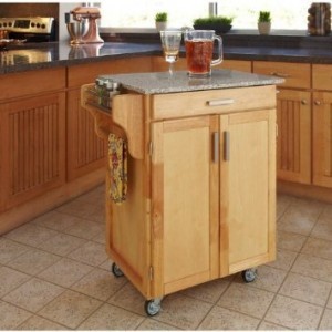 rolling island with granite top 300x300 Rolling Island with Granite Countertop   $231.99 with FREE shipping