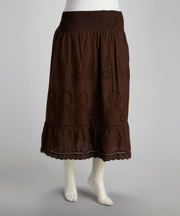 Chocolate Eyelet Skirt Zulily: MEGA Womens Skirt Sale (Price Start at $4.99!)