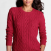 Women Cable Crewneck Sweater