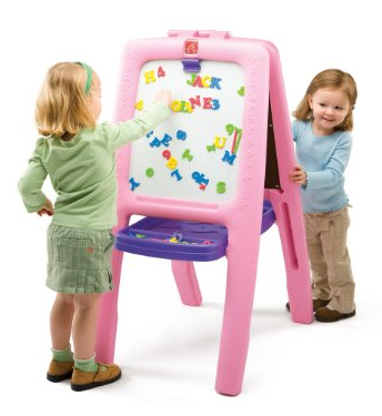 Step2 Pink Easel Step2 Kids Easel For Two   $39.97, Shipped