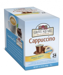 Grove Square Cappuccino *HOT* Grove Square Cappuccino K Cups   $.22 Each, Shipped