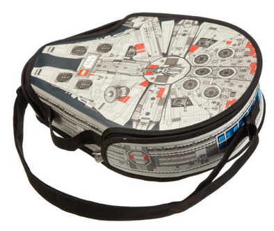 Lego Messenger Bag Neat Oh LEGO Star Wars ZipBin Large Millennium Falcon Messenger Bag   $10.98 (Reg. $24.99)