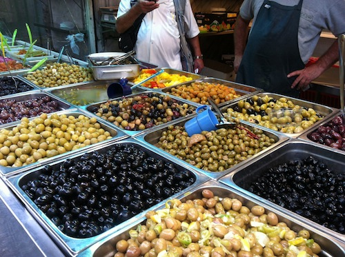 Machaneh Yehudah olives Our Israel Trip Report