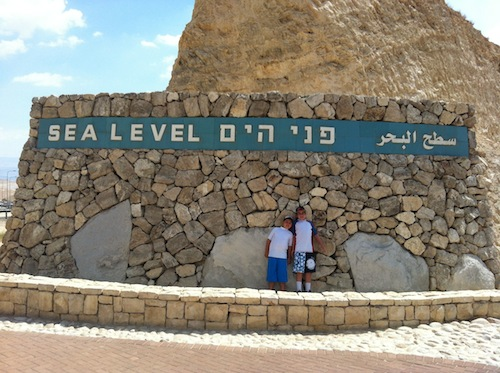 sea level sign Money Saving Tips for Vacations in Israel