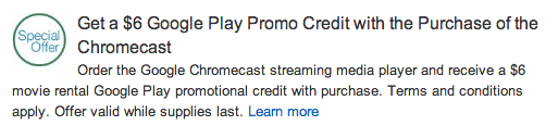 Screen Shot 2013 11 28 at 8.20.18 AM Google Chromecast HDMI Streaming Media Player   $29.98 *Black Friday Pricing*