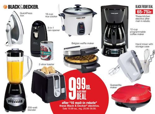 black and decker deal Kohls Black Friday Deals | Black & Decker Small Appliances Just $1.99 Each