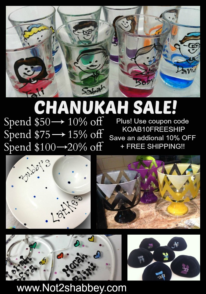 Not2Shabbey Coupon Code Chanukah