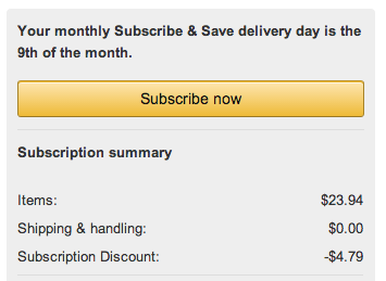 Screen Shot 2013 12 28 at 10.25.29 PM How to Save at Amazon with Subscribe & Save