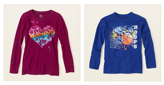 The Childrens Place Graphic Tees The Childrens Place Coupon Code: Additional 40% Off + Free Shipping (Today Only)