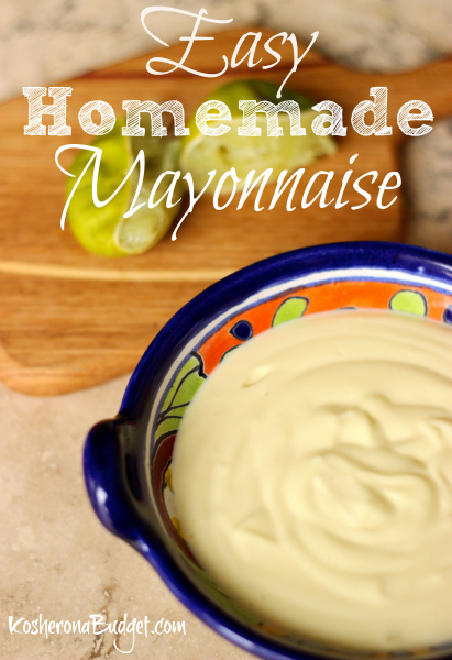 Easy Homemade Mayonnaise Easy Homemade Passover Mayonnaise with a Stick Blender
