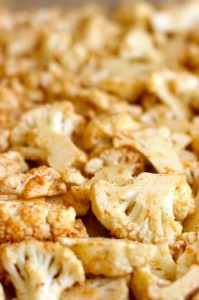 Spicy Cauliflower ready for the oven