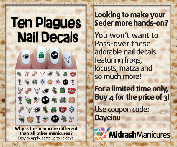 Ten Plagues for Passover Ten Plagues Nail Decals by Midrash Manicures | Buy Three, Get One FREE