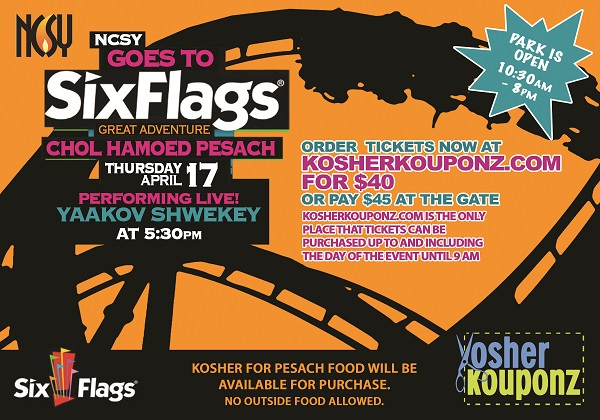 six flags Six Flags Great Adventure Discount Tickets for Chol Hamoed Pesach