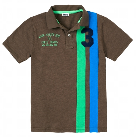 Boys Side Stripe Polo