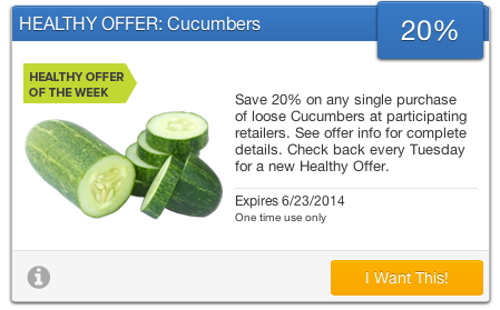 Cucumber SavingStar Offer