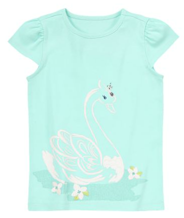 Girls Sparkle Swan Tee Gymboree Semi Annual Sale | Up To 70% Off + FREE Shipping (No Minimum)