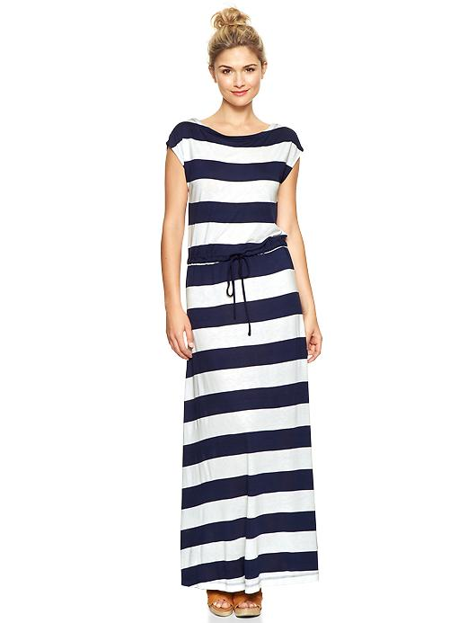 Navy White Maxi Dress