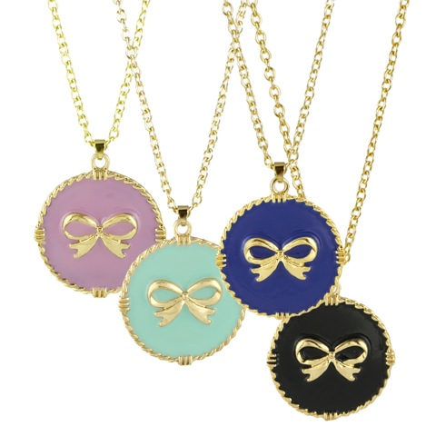 Trendy Bow Necklaces on Long Chain   As low as $9.74 Each, Shipped