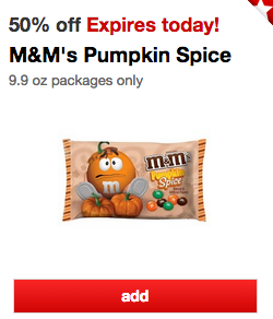 Pumpkin Spice M&M Deal