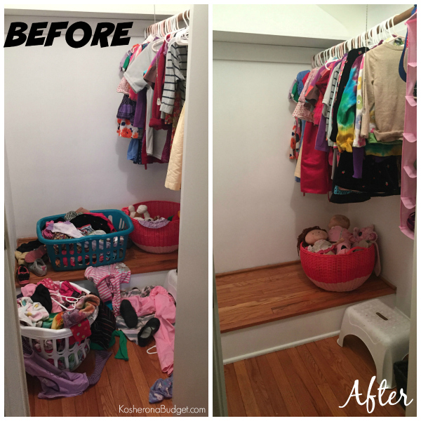 Before & After Girl's Closet
